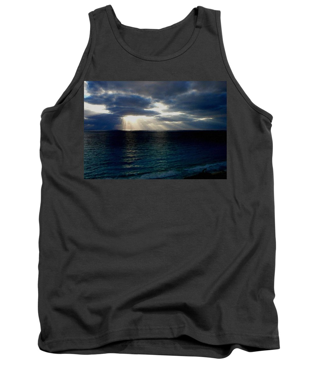 Landscape Tank Top featuring the digital art At Landscape by Usa Map