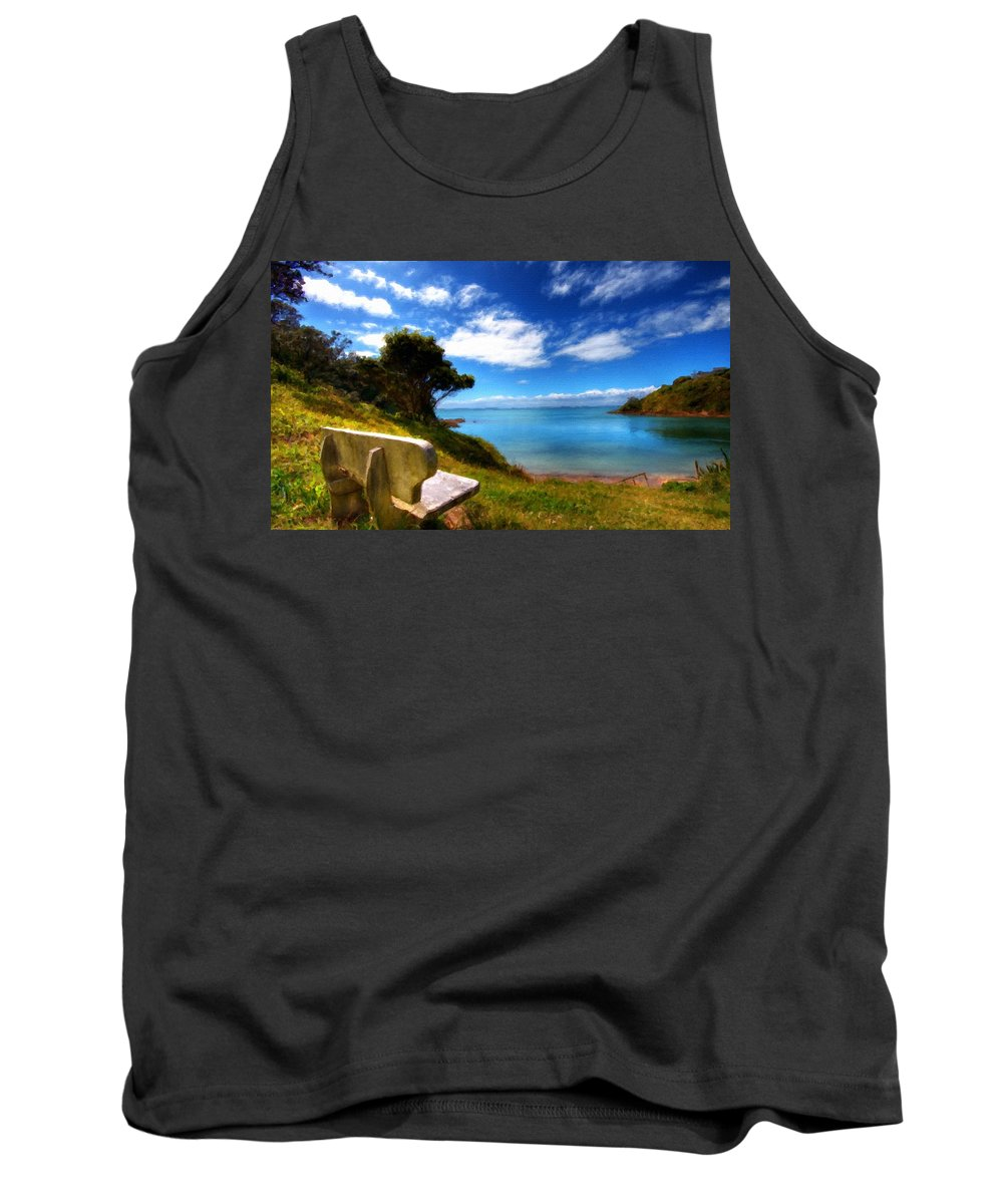 Landscape Tank Top featuring the digital art Living Landscape by Usa Map