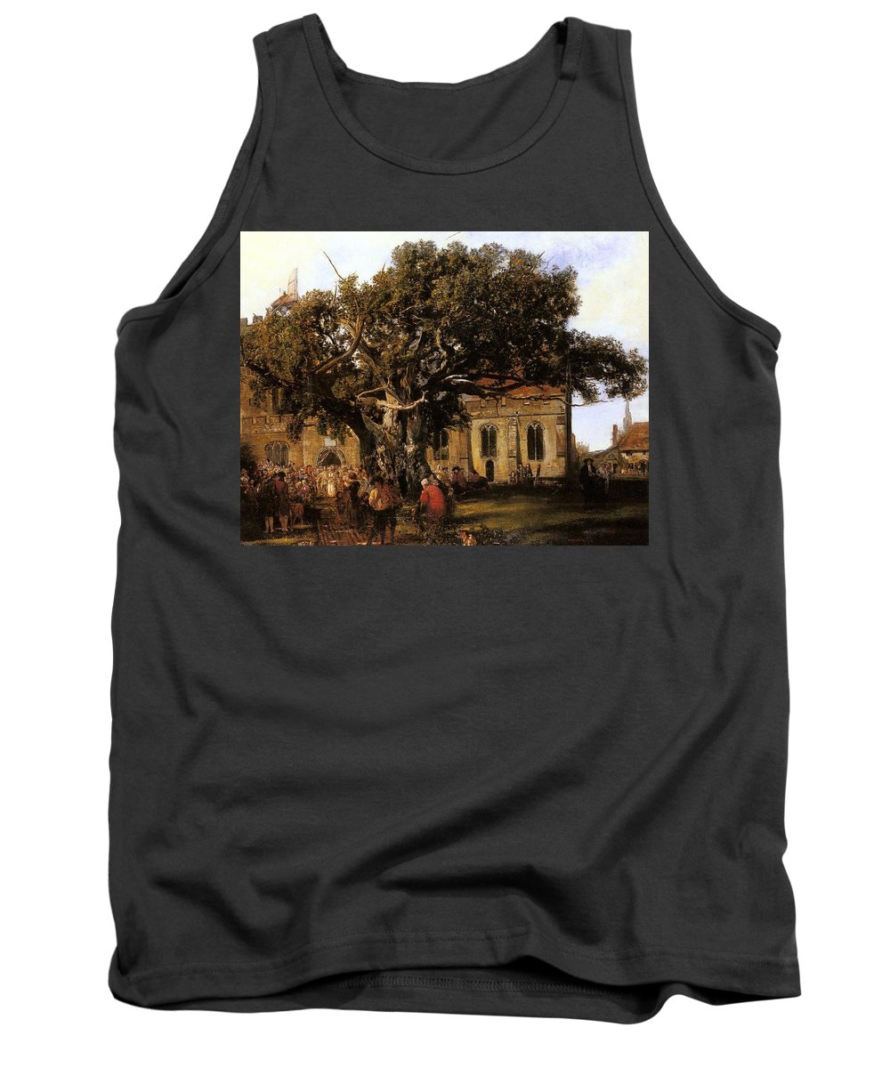 Tree Tank Top featuring the digital art Anthony Henry Mark Village Wedding Anthony Henry Mark by Eloisa Mannion