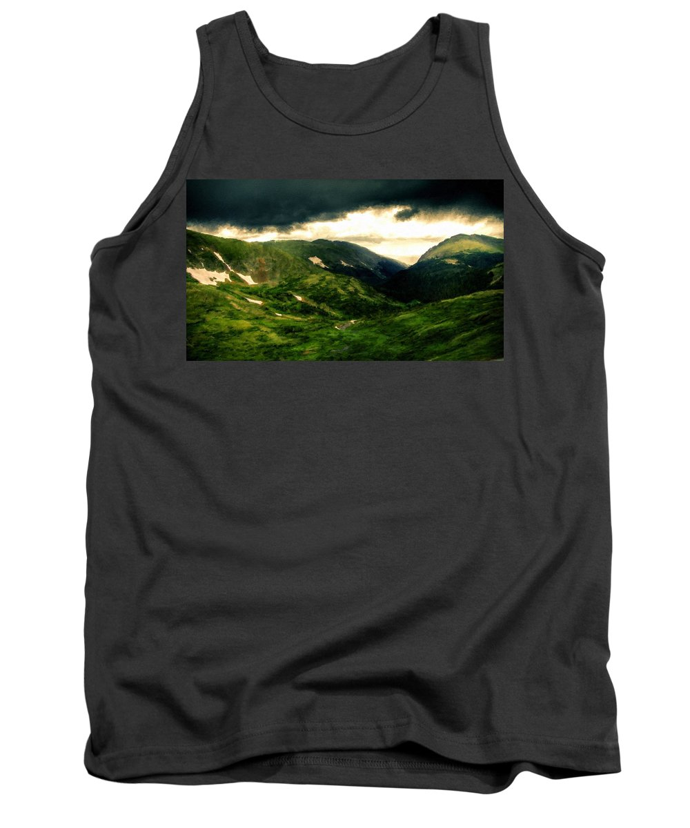 Landscape Tank Top featuring the digital art In The Landscape by Usa Map
