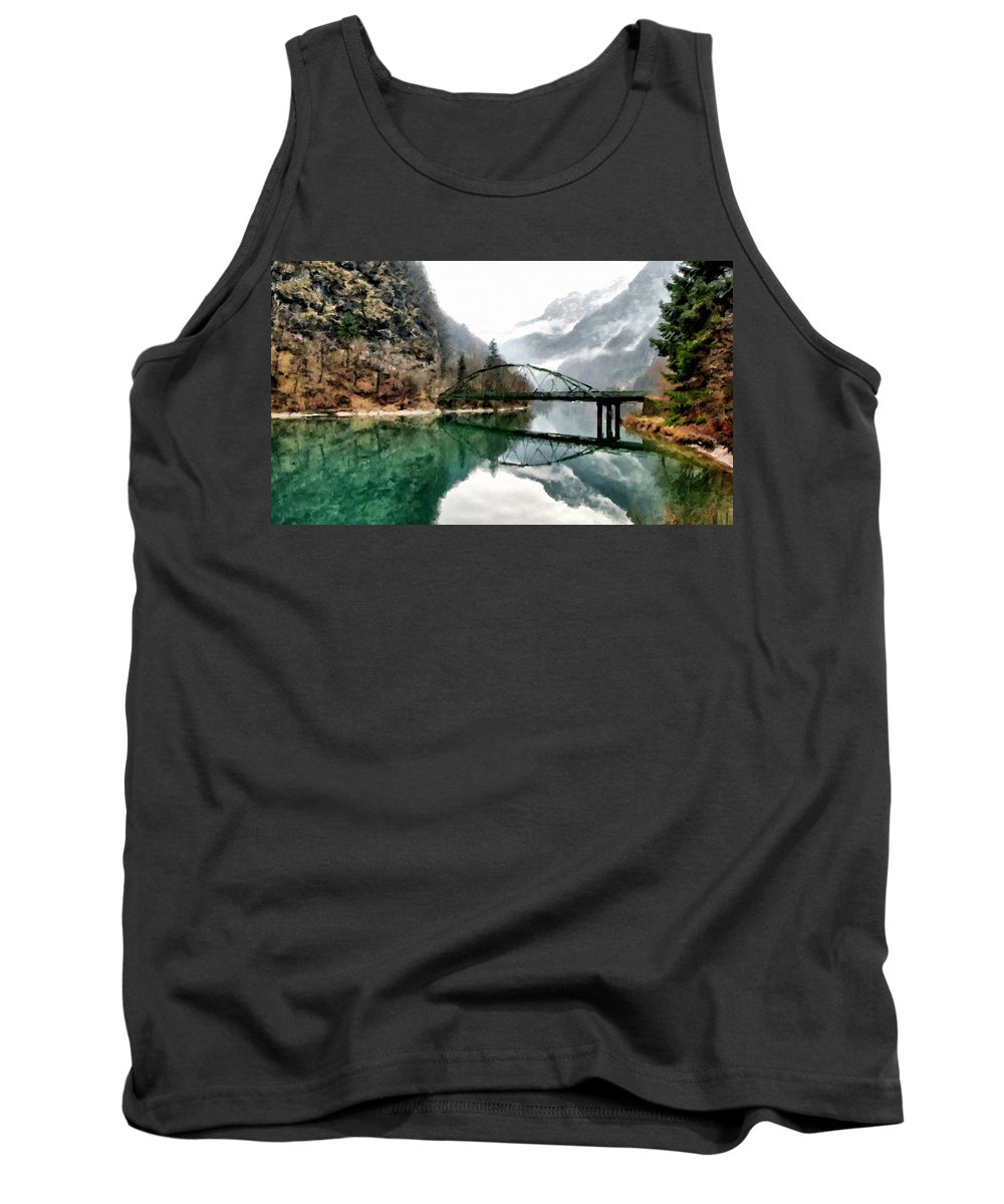 Landscape Tank Top featuring the digital art Art Nature by Usa Map