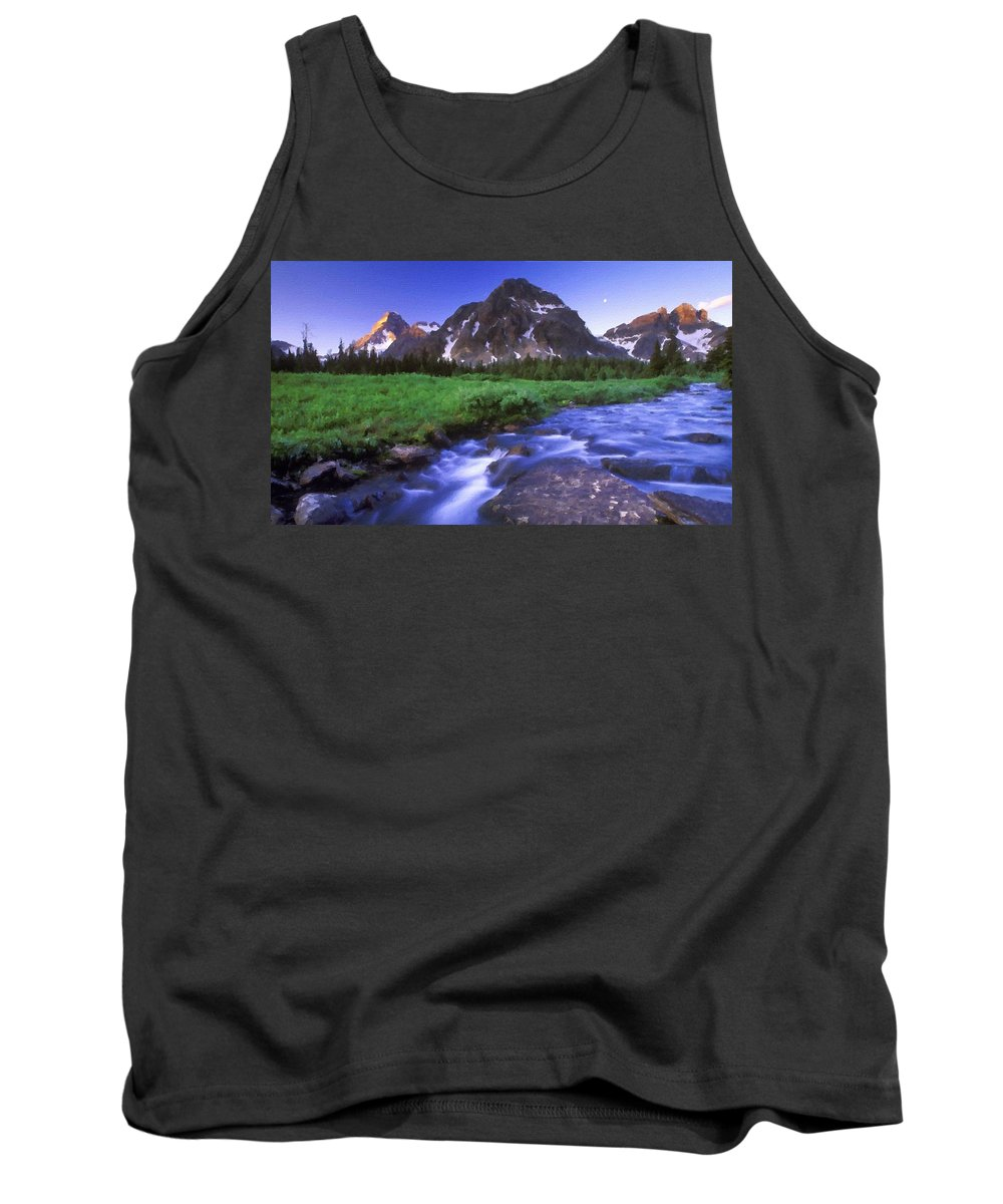 Landscape Tank Top featuring the digital art R F Landscape by Usa Map