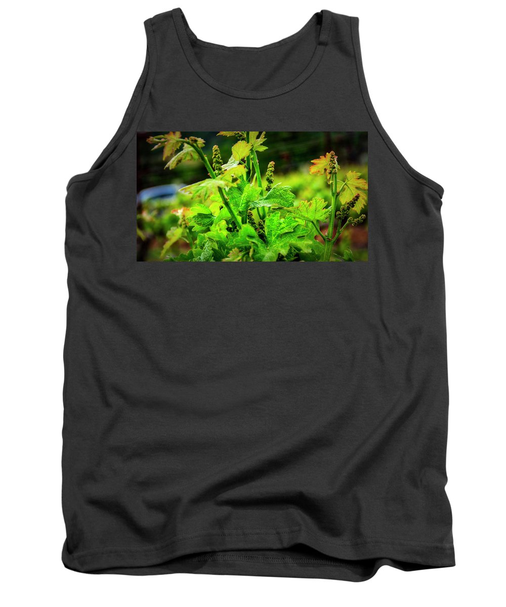 Californai Tank Top featuring the photograph 2629- Comsrock Winery by David Lange