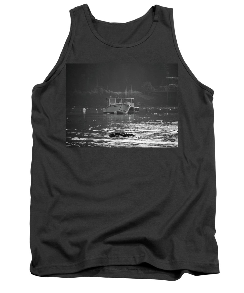 Black And White Tank Top featuring the photograph Down East Maine by Trace Kittrell