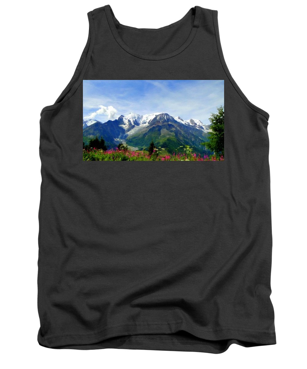 Art Tank Top featuring the digital art R F Landscape by Usa Map