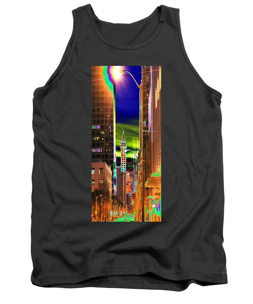 Seattle Tank Top featuring the photograph 2nd Avenue Sunrise by Tim Allen