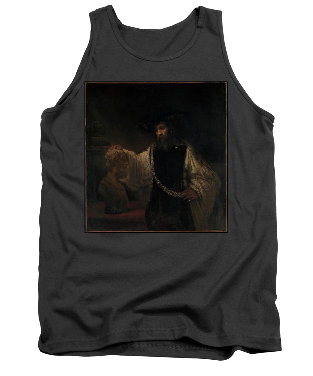 Rembrandt Aristotle With A Bust Of Homer Tank Top featuring the painting Aristotle With A Bust Of Homer by Rembrandt