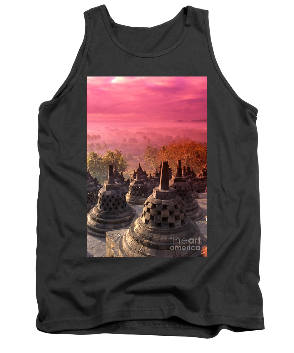Ancient Tank Top featuring the photograph Borobudor Temple by Gloria & Richard Maschmeyer - Printscapes