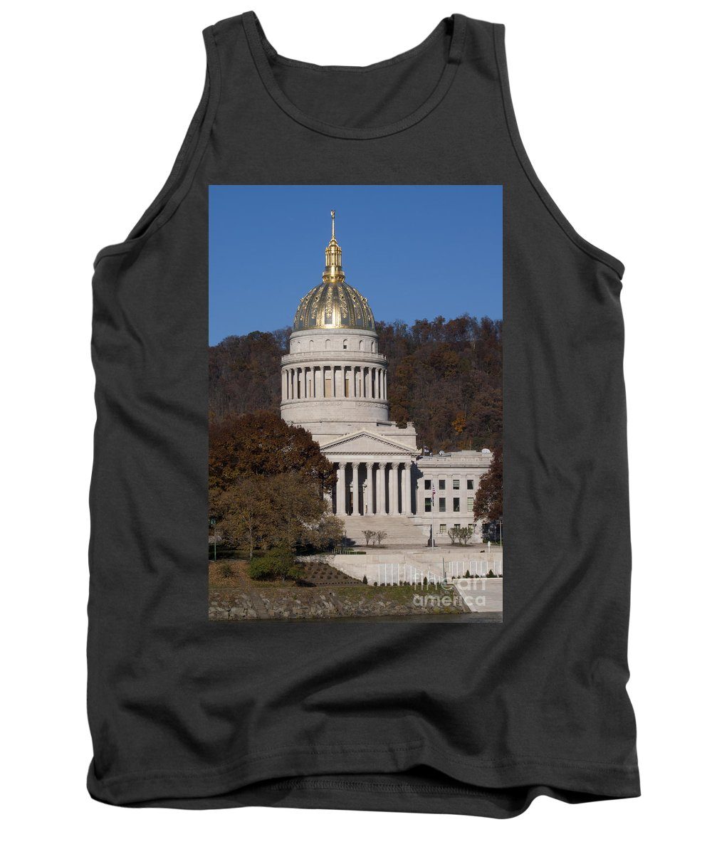 Capital Tank Top featuring the photograph Capital Of West Virginia In Charleston by Anthony Totah
