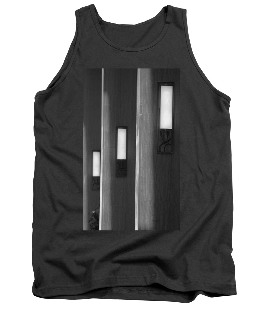 Sconce Tank Top featuring the photograph 3 Lighted Wall Sconce by Rob Hans