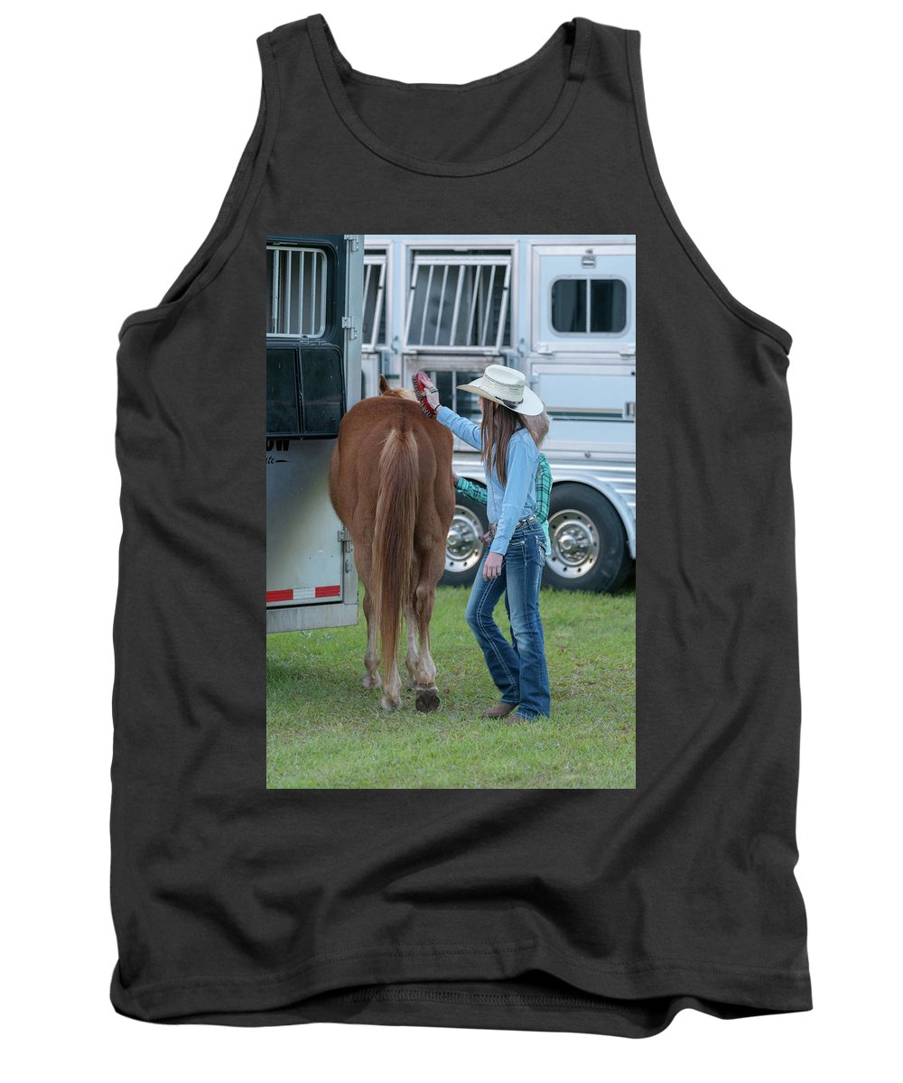 Rodeo Tank Top featuring the photograph Lil' Cowgirls by Glenn Matthews