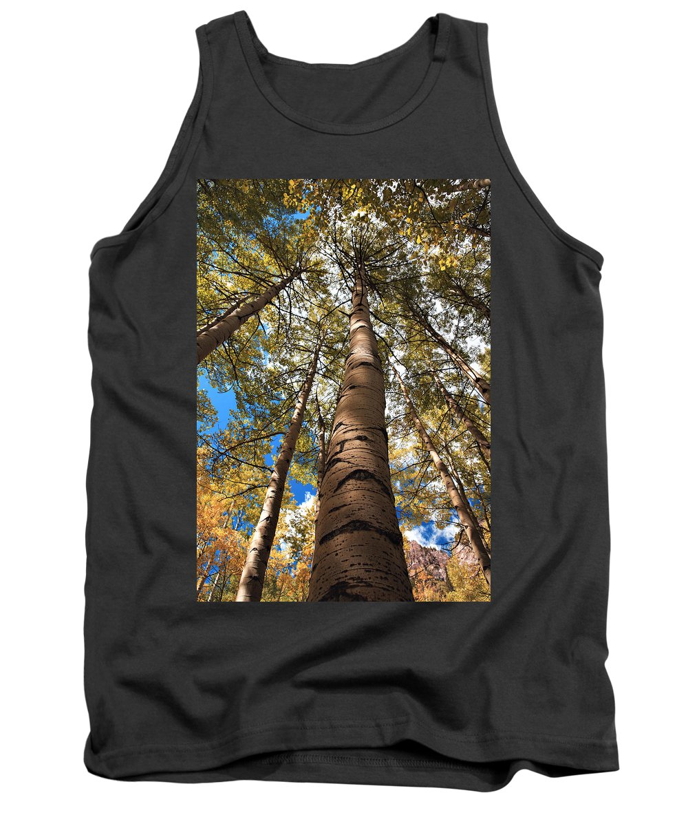 Americana Tank Top featuring the photograph Looking Up by Marilyn Hunt