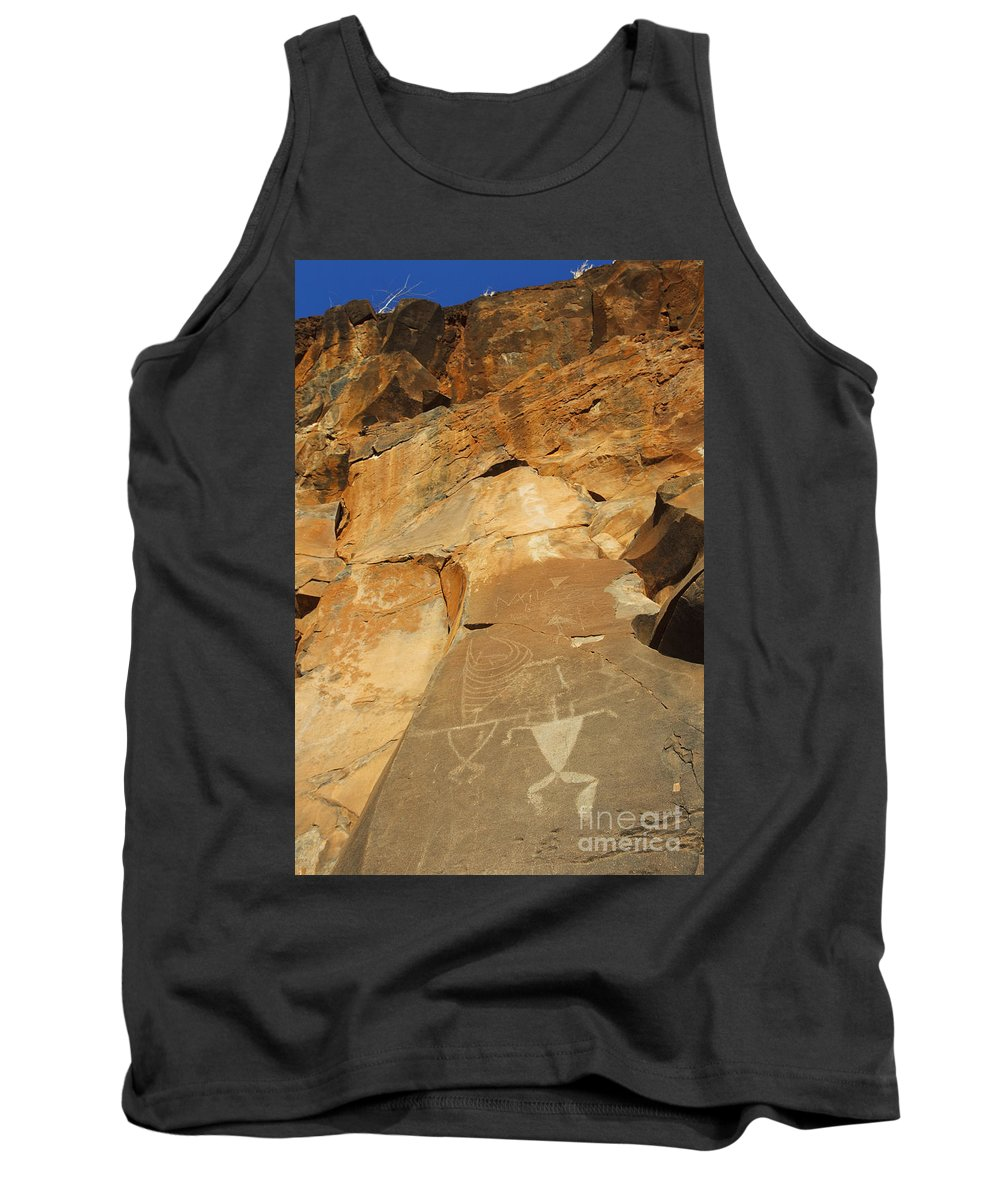 Ancient Tank Top featuring the photograph Olowalu Petroglyphs by MakenaStockMedia