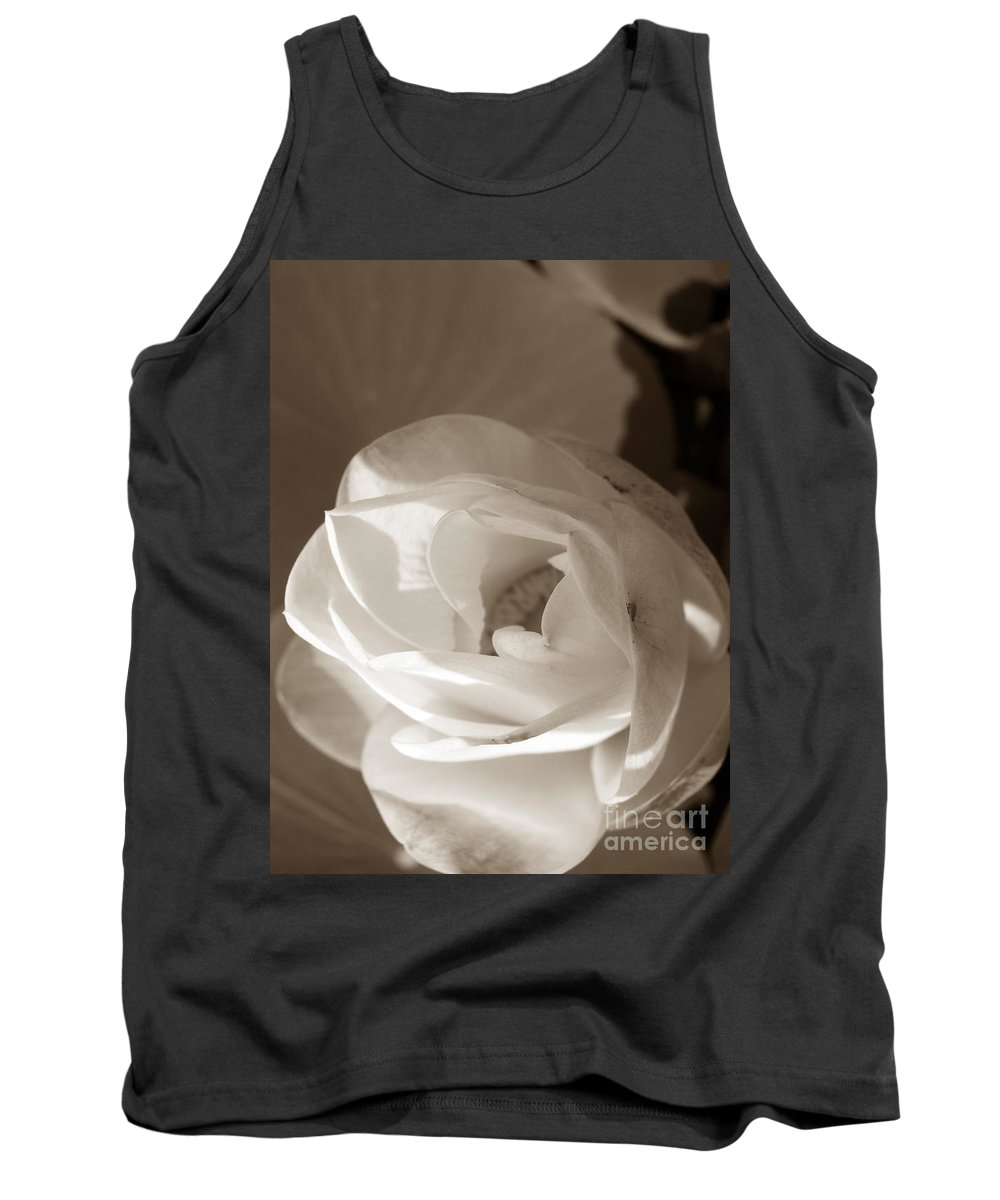 Lotus Tank Top featuring the photograph Softly by Amanda Barcon