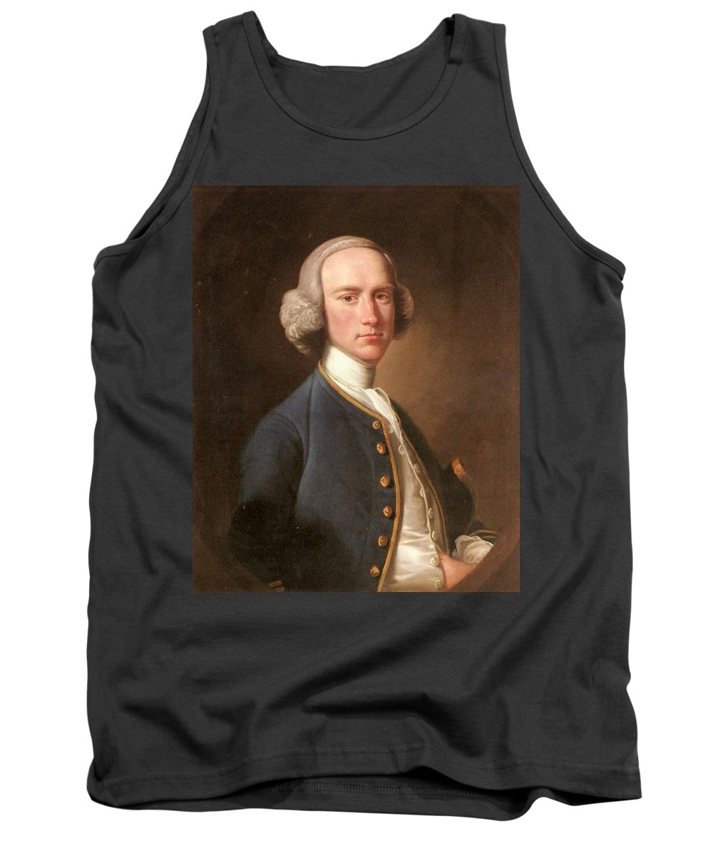 Man Tank Top featuring the digital art Portrait Of George Hill Sergeant At Law Henry Pickering by Eloisa Mannion
