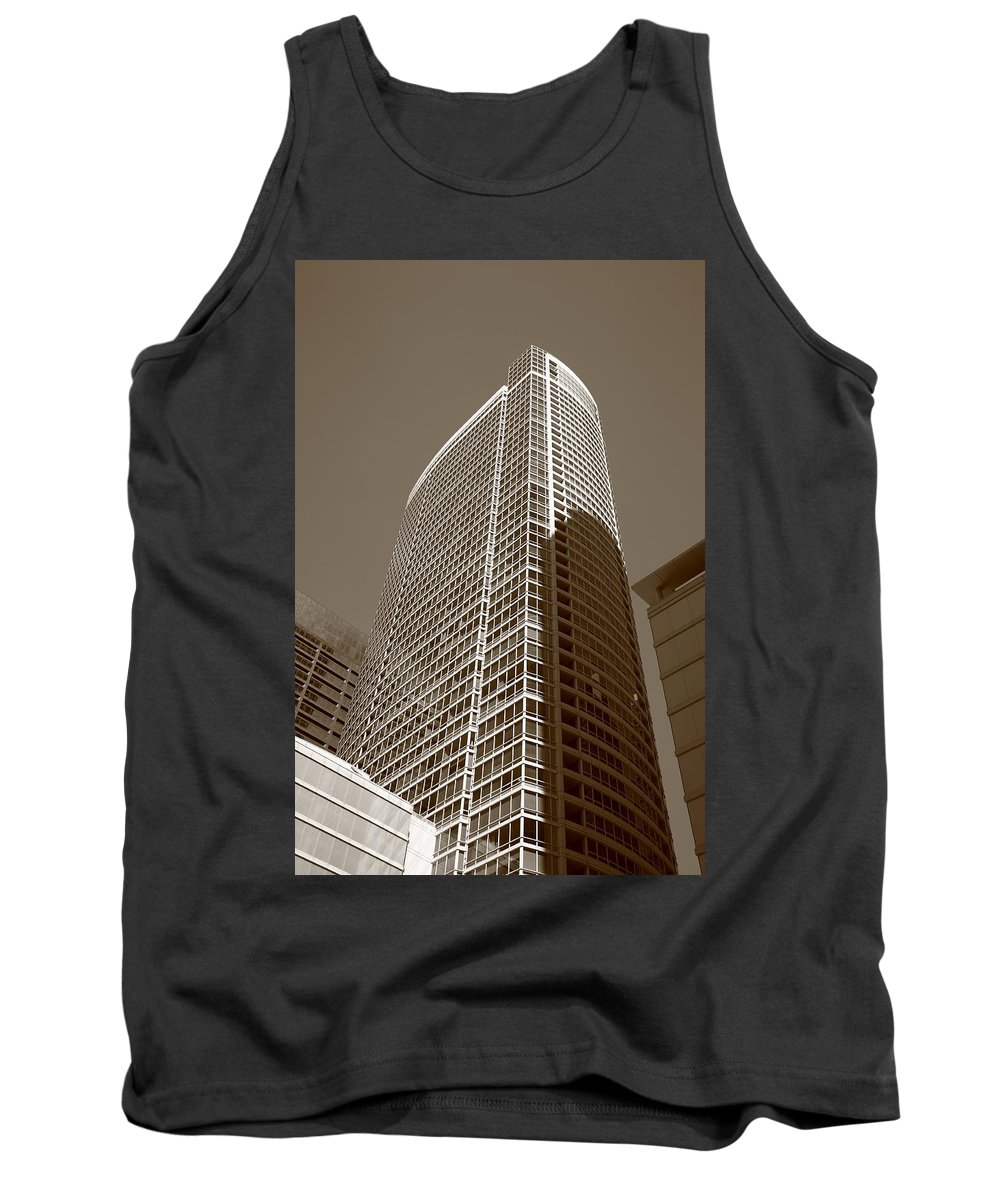 America Tank Top featuring the photograph Chicago Skyscrapers by Frank Romeo