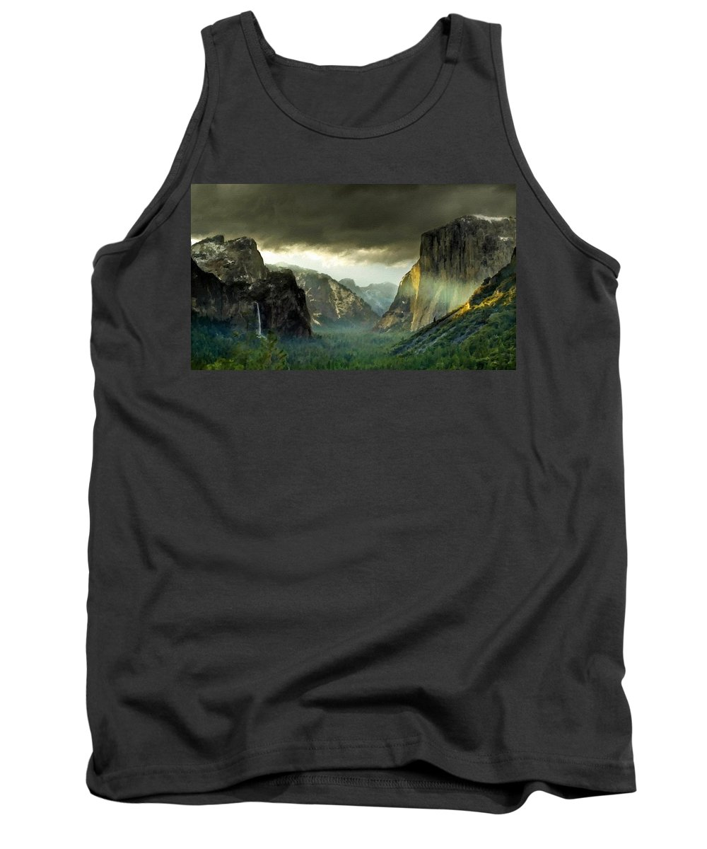 Art Tank Top featuring the digital art Landscape Nature by Usa Map