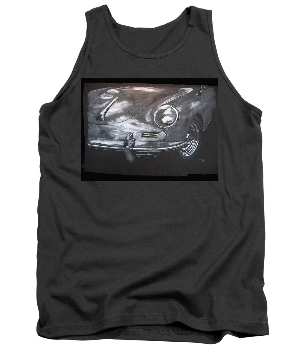 Car Tank Top featuring the painting 356 Porsche Front by Richard Le Page