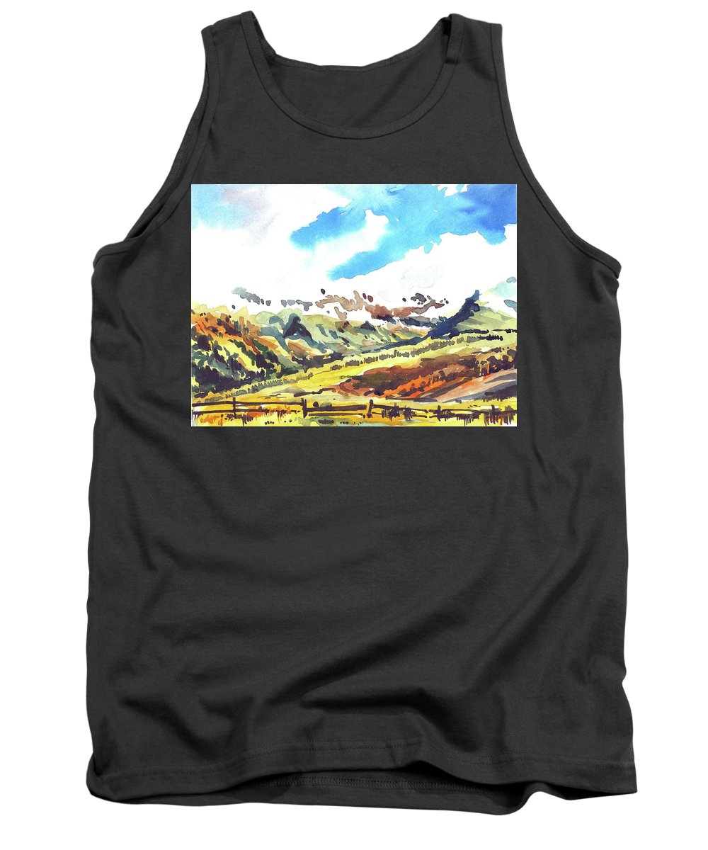 Tank Top featuring the painting Watercolor by Ugljesa Janjic