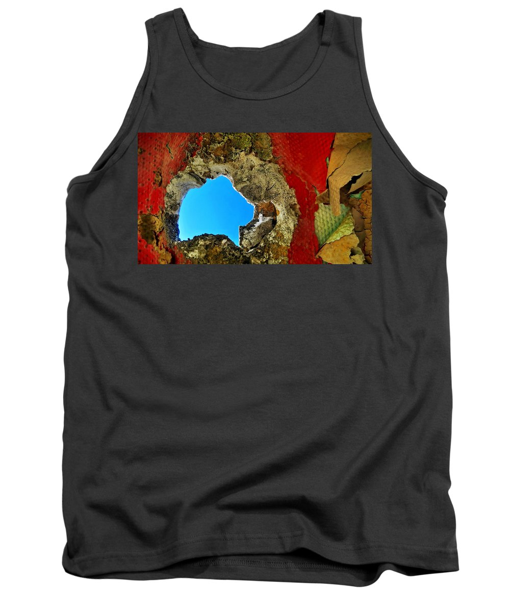 Abstract Tank Top featuring the photograph 377 At 41 Series 4 by Skip Hunt