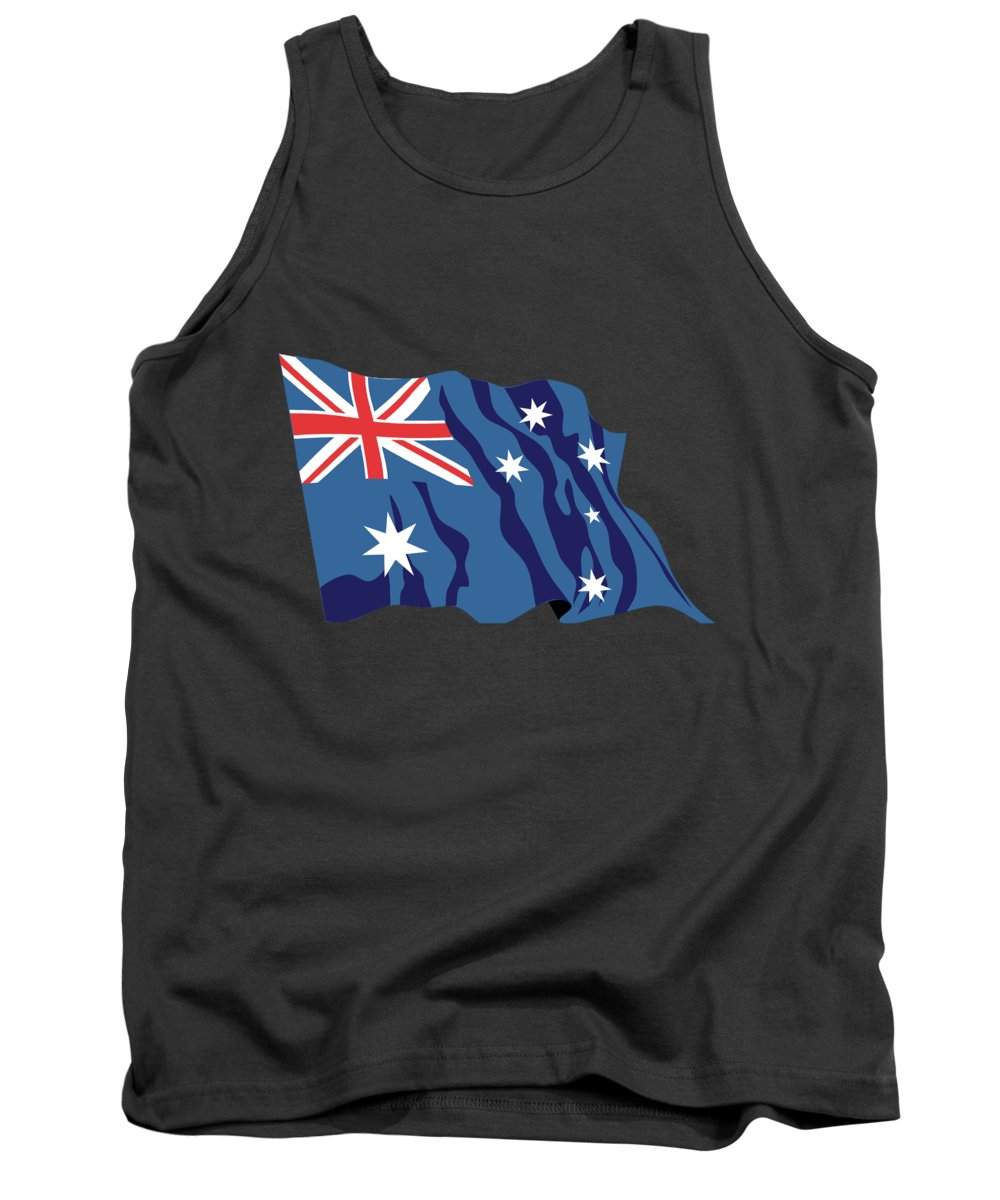 Australia Tank Top featuring the digital art Australia Flag by Frederick Holiday