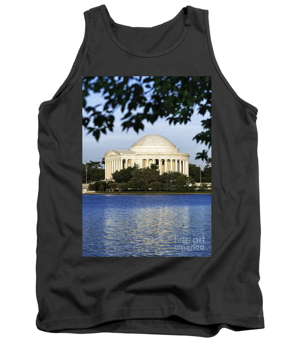 America Tank Top featuring the photograph Jefferson Memorial by John Greim