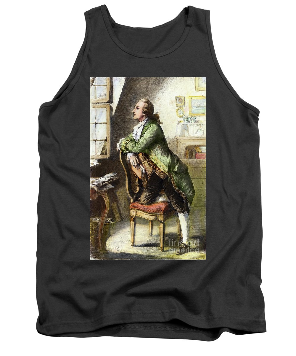 18th Century Tank Top featuring the drawing Johann Goethe, 1749-1832 by Granger