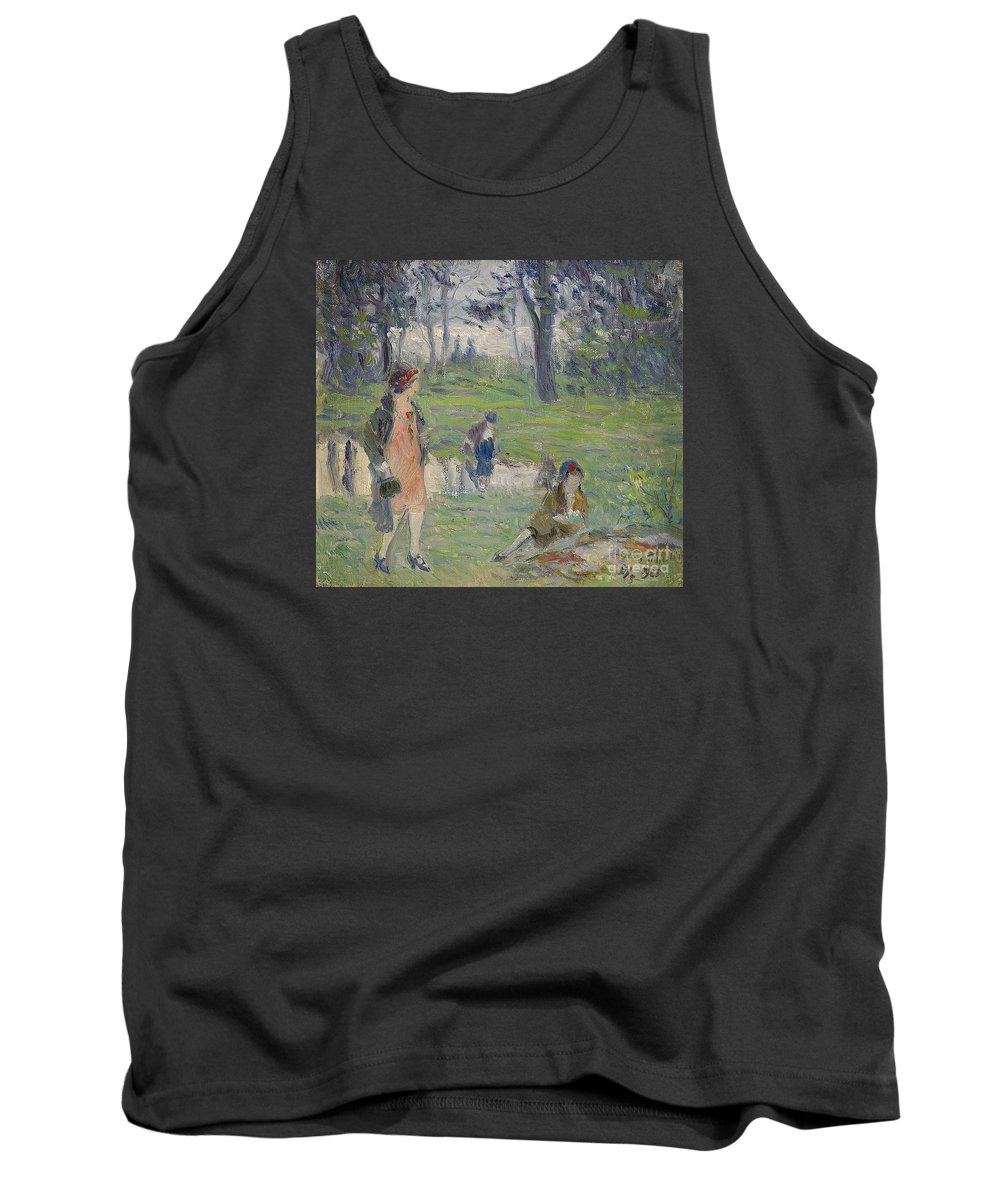 Tryggelin Tank Top featuring the painting Ladies by Celestial Images