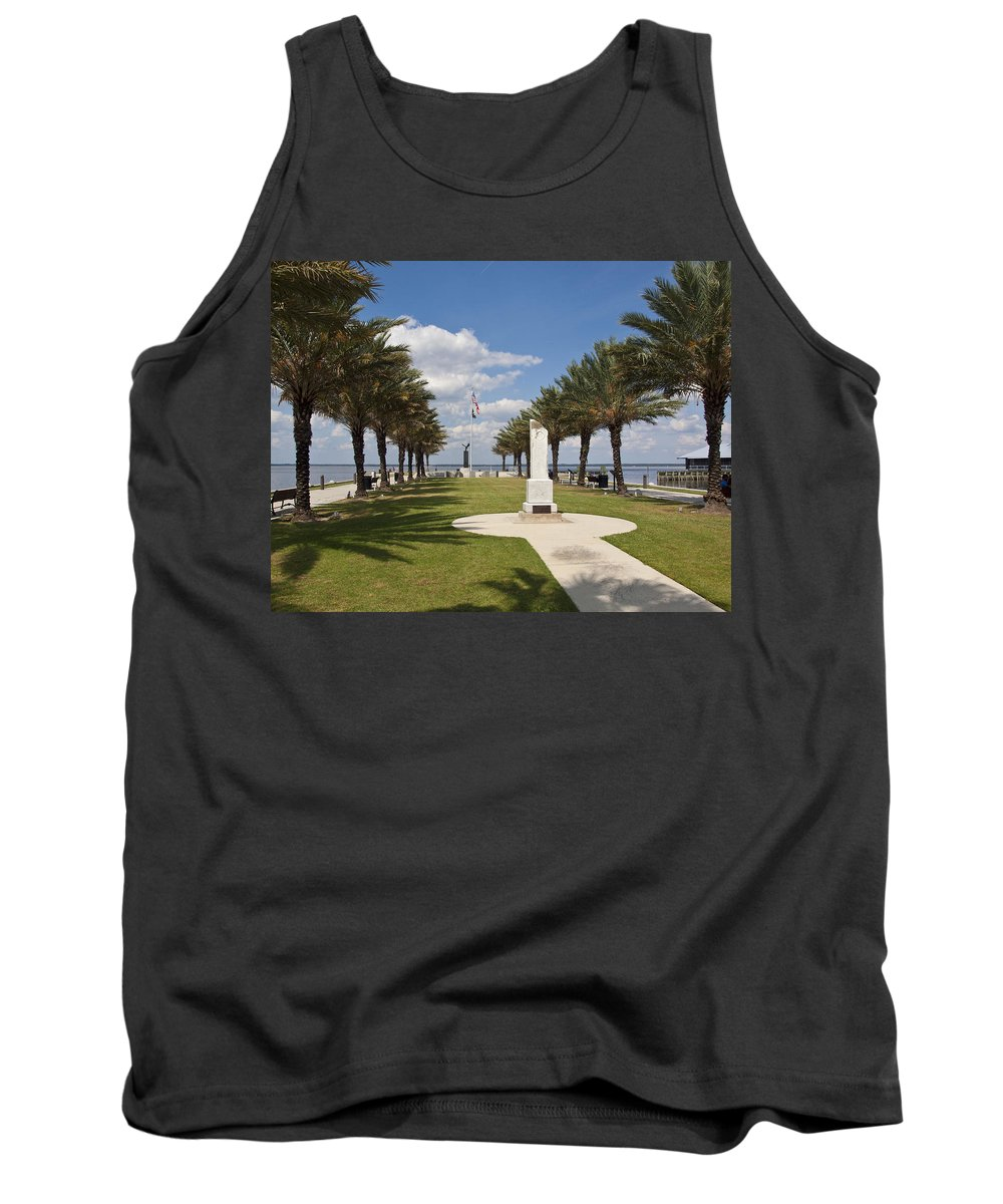 Veterans Tank Top featuring the photograph Lake Monroe At The Port Of Sanford Florida by Allan Hughes