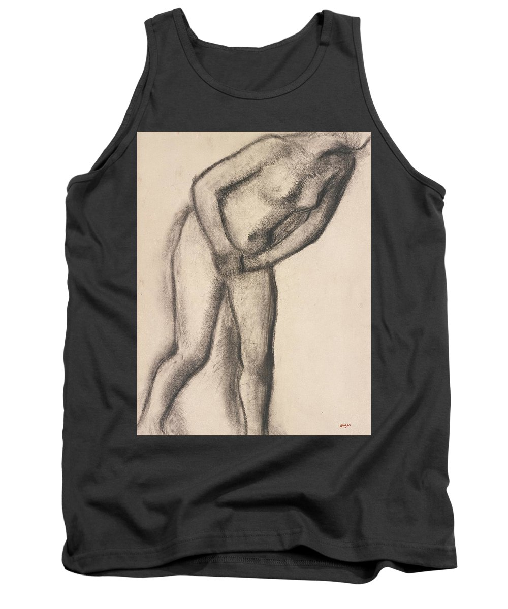 Edgar Degas Tank Top featuring the drawing Nude Study by Edgar Degas