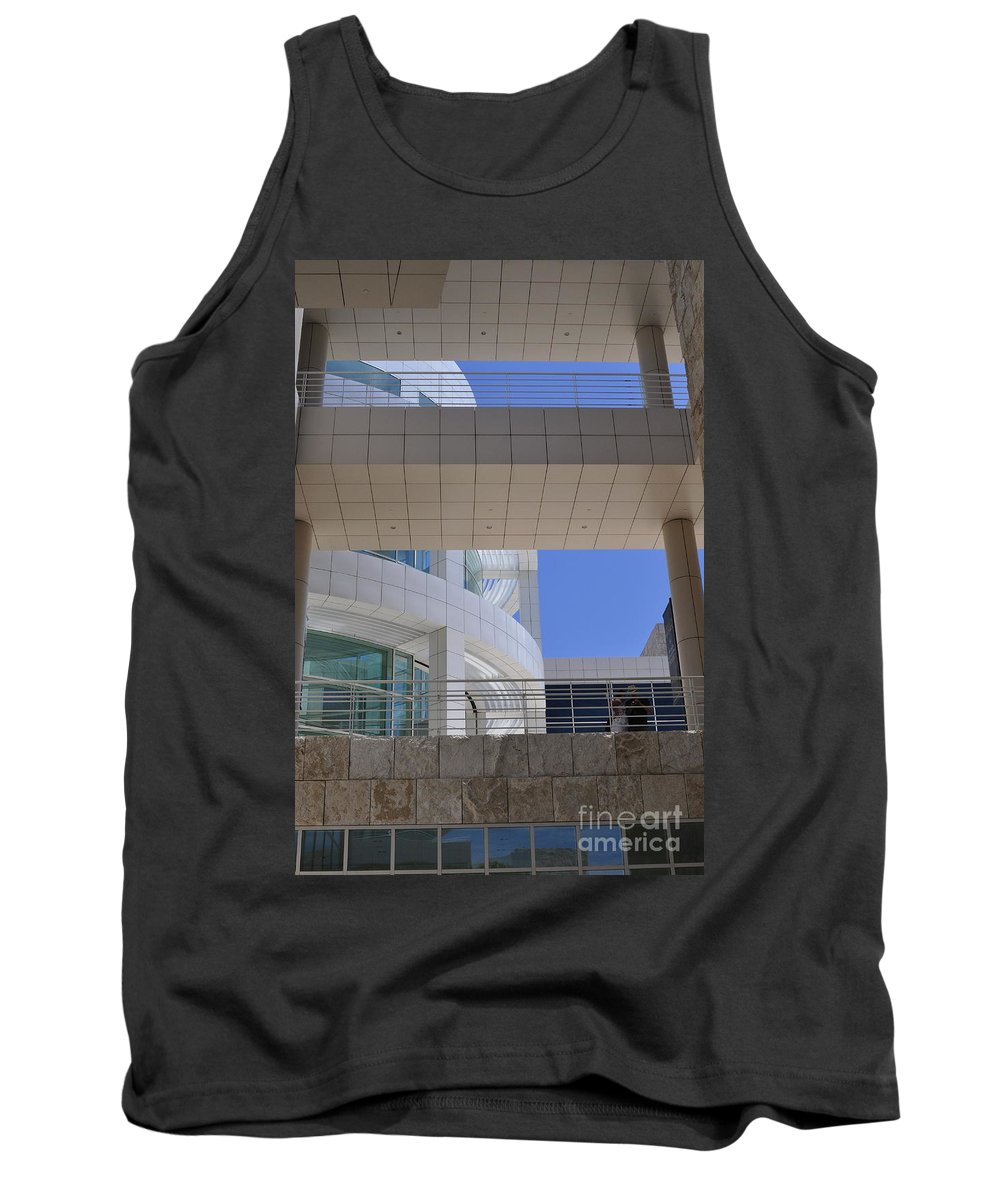 Clay Tank Top featuring the photograph The Getty by Clayton Bruster
