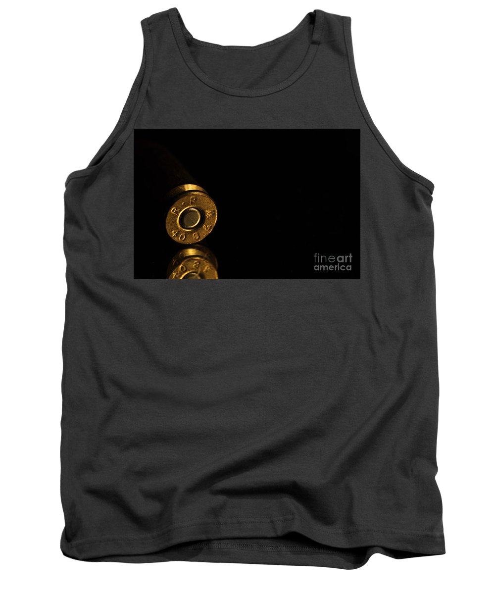 Bronze Tank Top featuring the photograph 40 S And W by Crystal J Harwood