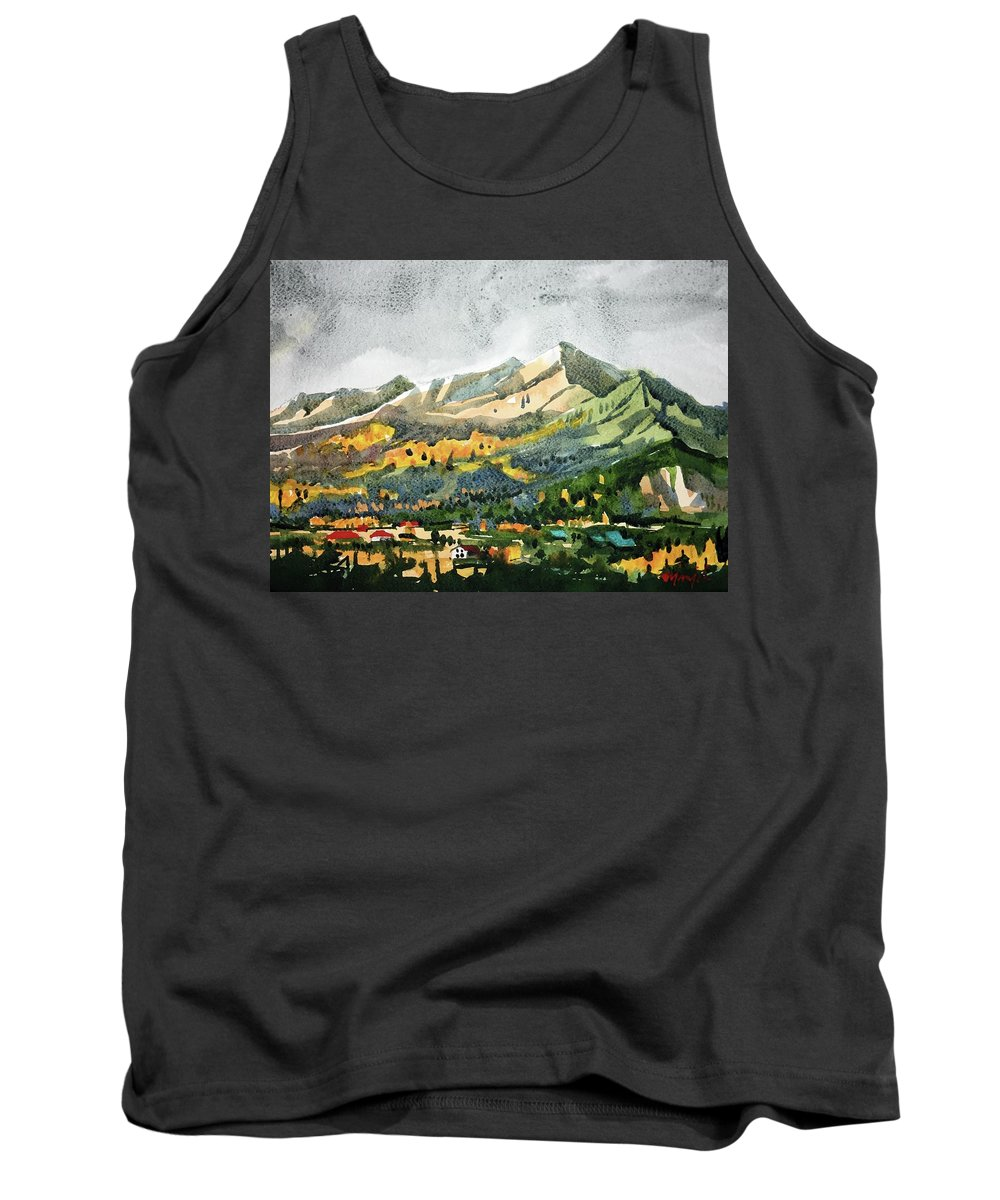 Colorado Landscape Tank Top featuring the painting Watercolor by Ugljesa Janjic