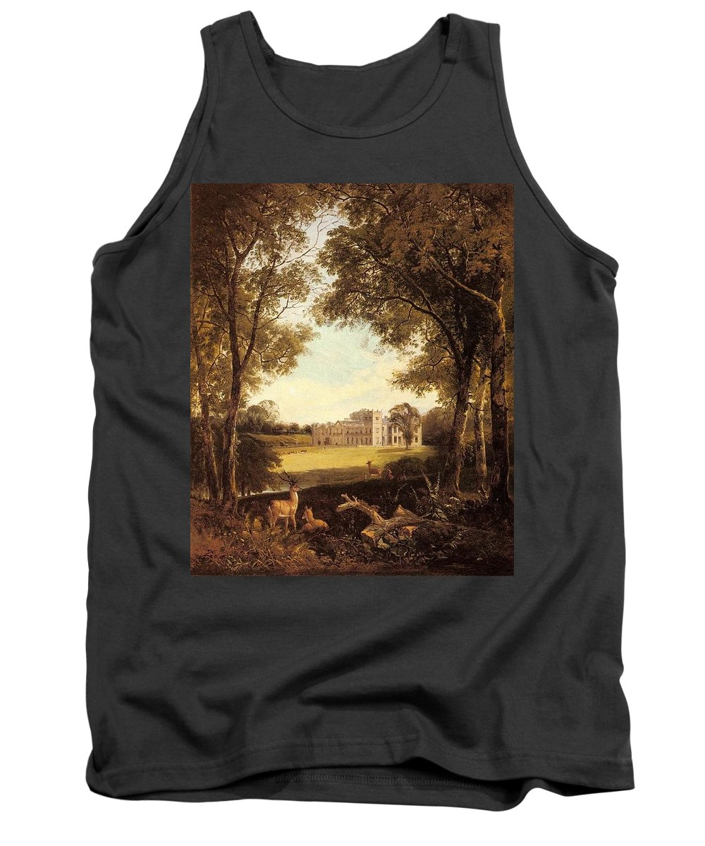 Tree Tank Top featuring the digital art Boddington Henry John A View Of Norton Hall Henry John Boddington by Eloisa Mannion