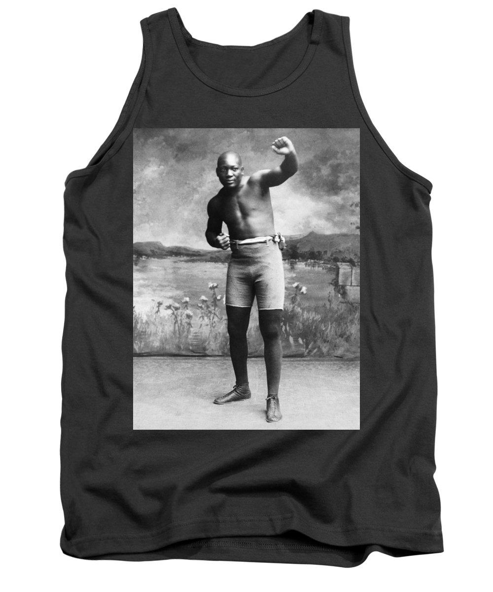 1910 Tank Top featuring the photograph Jack Johnson (1878-1946) by Granger