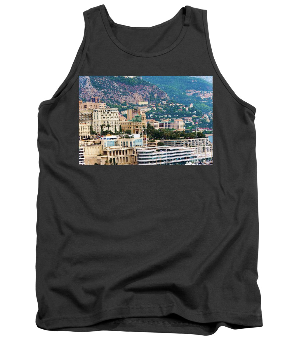 City Tank Top featuring the photograph Monte Carlo Cityscape by Marek Poplawski