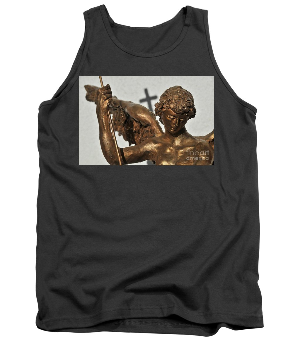 Statue Tank Top featuring the photograph Statue by Archangelus Gallery