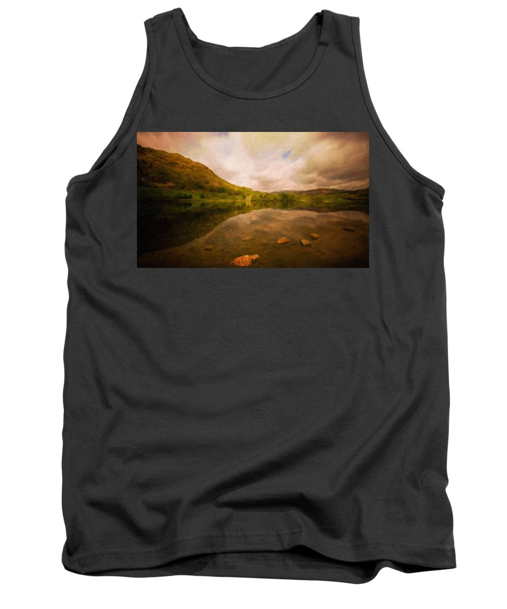 Landscape Tank Top featuring the painting Landscape Definition Nature by World Map