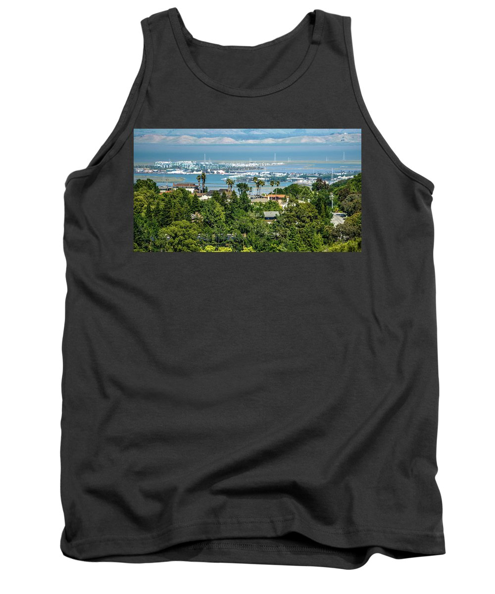 San Tank Top featuring the photograph San Francisco City Neighborhoods And Street Views On Sunny Day by Alex Grichenko