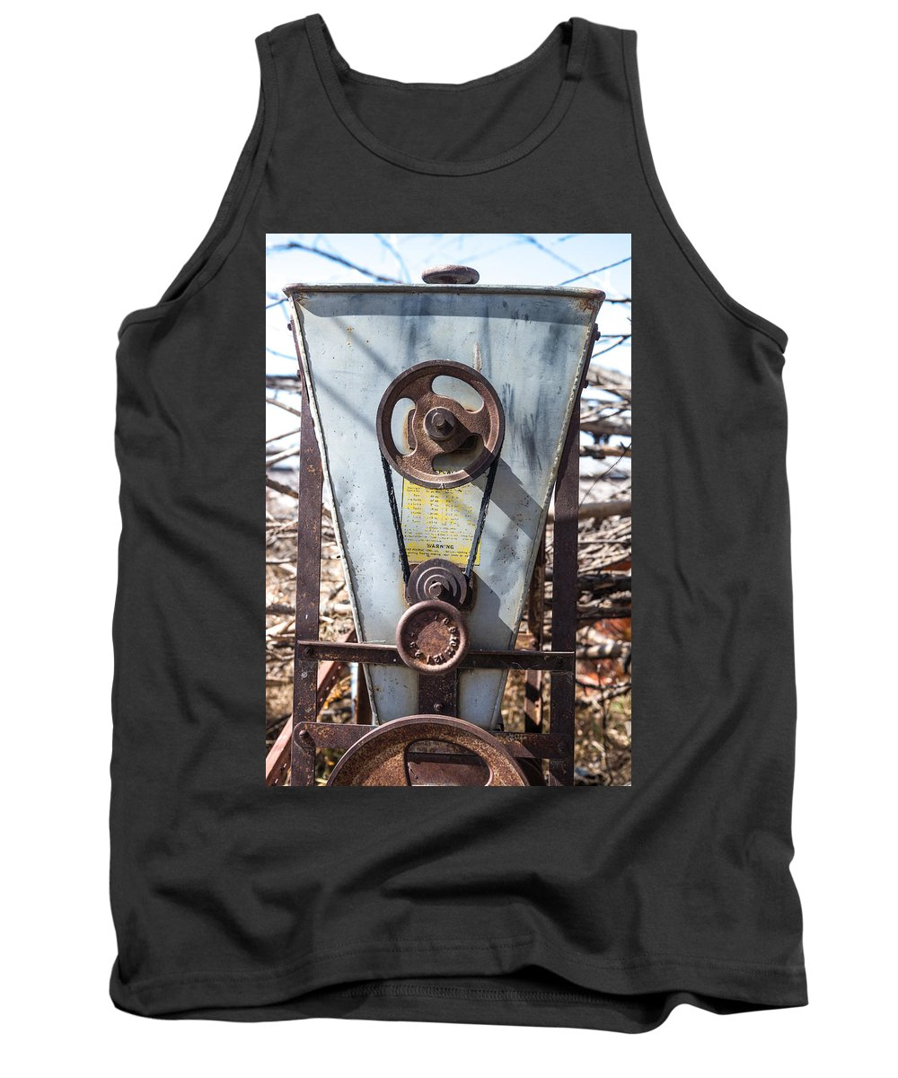 Mill Tank Top featuring the photograph Vintage Grain Elevator by Donald Erickson