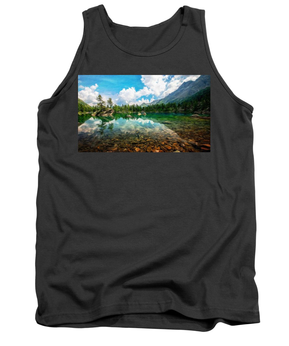 Landscape Tank Top featuring the painting Landscape Pictures Nature by World Map