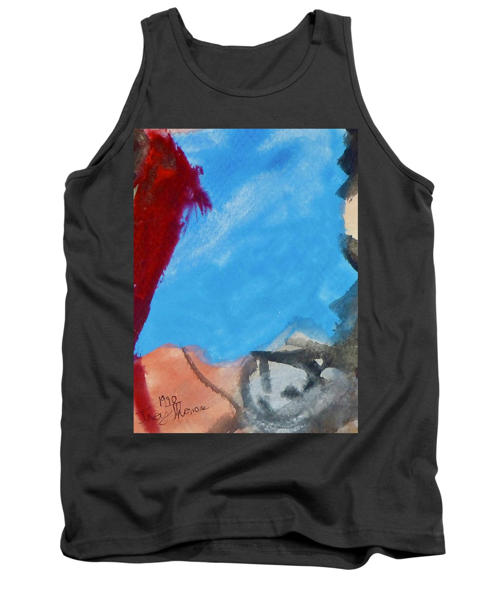 Abstract Modern Art Tank Top featuring the painting Untitled Abstract by Troy Thomas