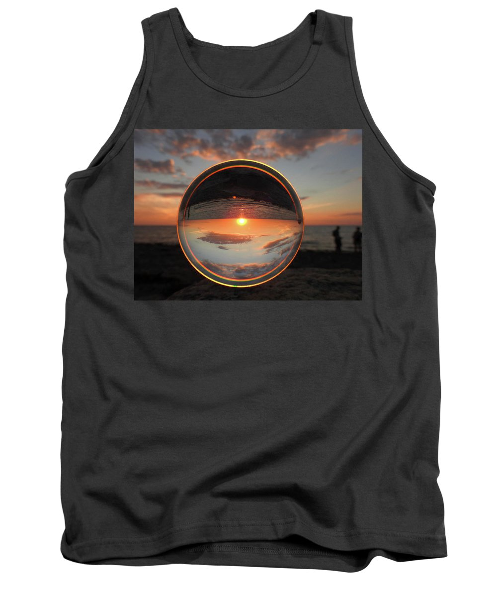 Don't Drop The Crystal Ball Tank Top featuring the photograph 7-26-16--4577 Don't Drop The Crystal Ball, Crystal Ball Photography by Vicki Hall