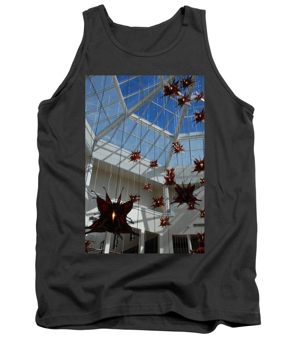 Architecture Tank Top featuring the photograph Hanging Butterflies by Rob Hans