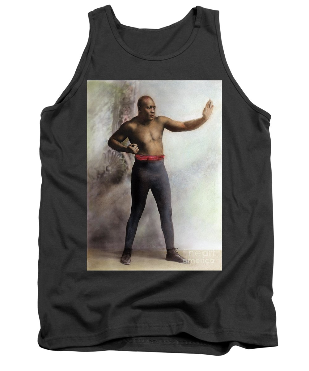 1909 Tank Top featuring the photograph Jack Johnson, 1878-1946 by Granger