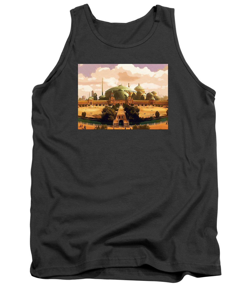 Star Wars For Tank Top featuring the digital art Star Wars The Trilogy Poster by Larry Jones