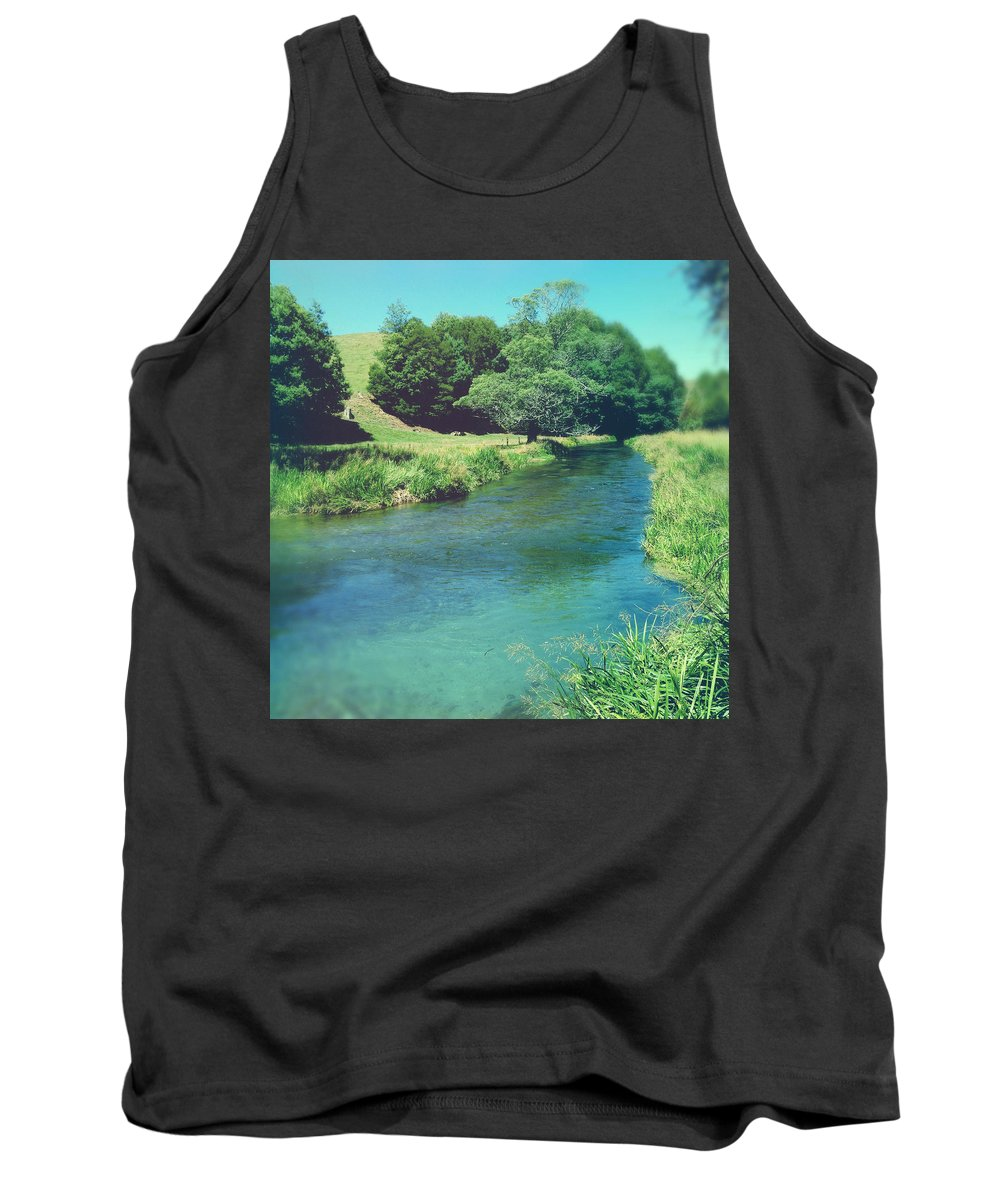 Blue Tank Top featuring the photograph Spring Water by Les Cunliffe