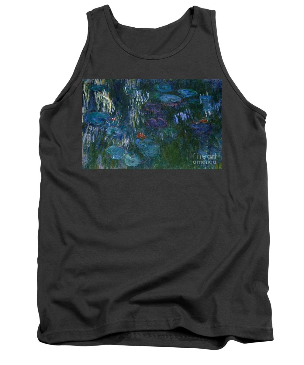 Monet Tank Top featuring the painting Water Lilies by Claude Monet
