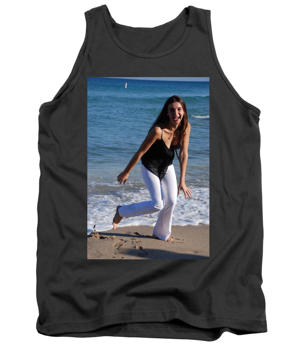 Sea Scape Tank Top featuring the photograph Gisele by Rob Hans