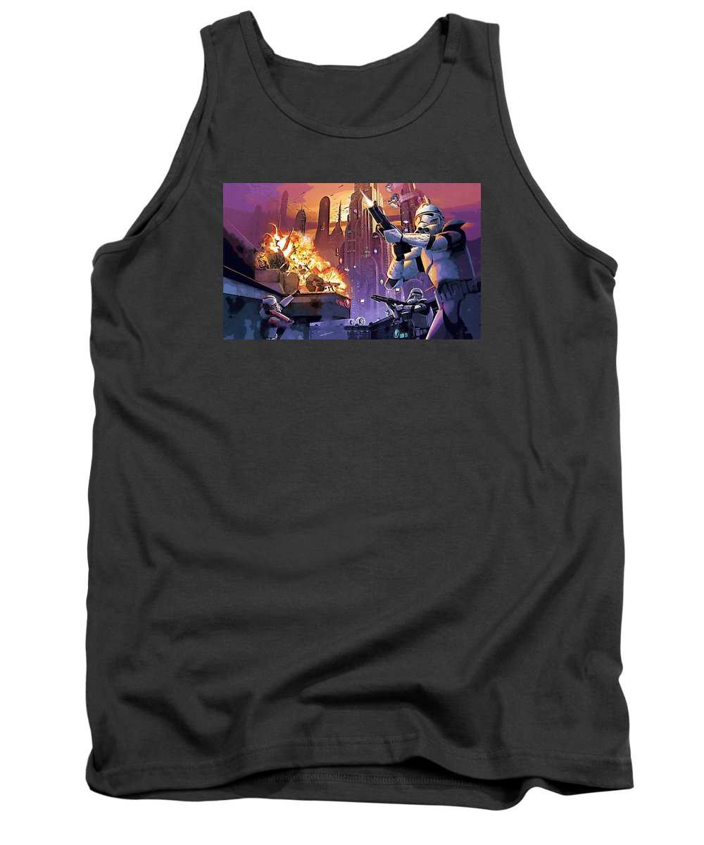 Collection Star Wars Tank Top featuring the digital art Imperial Star Wars Poster by Larry Jones